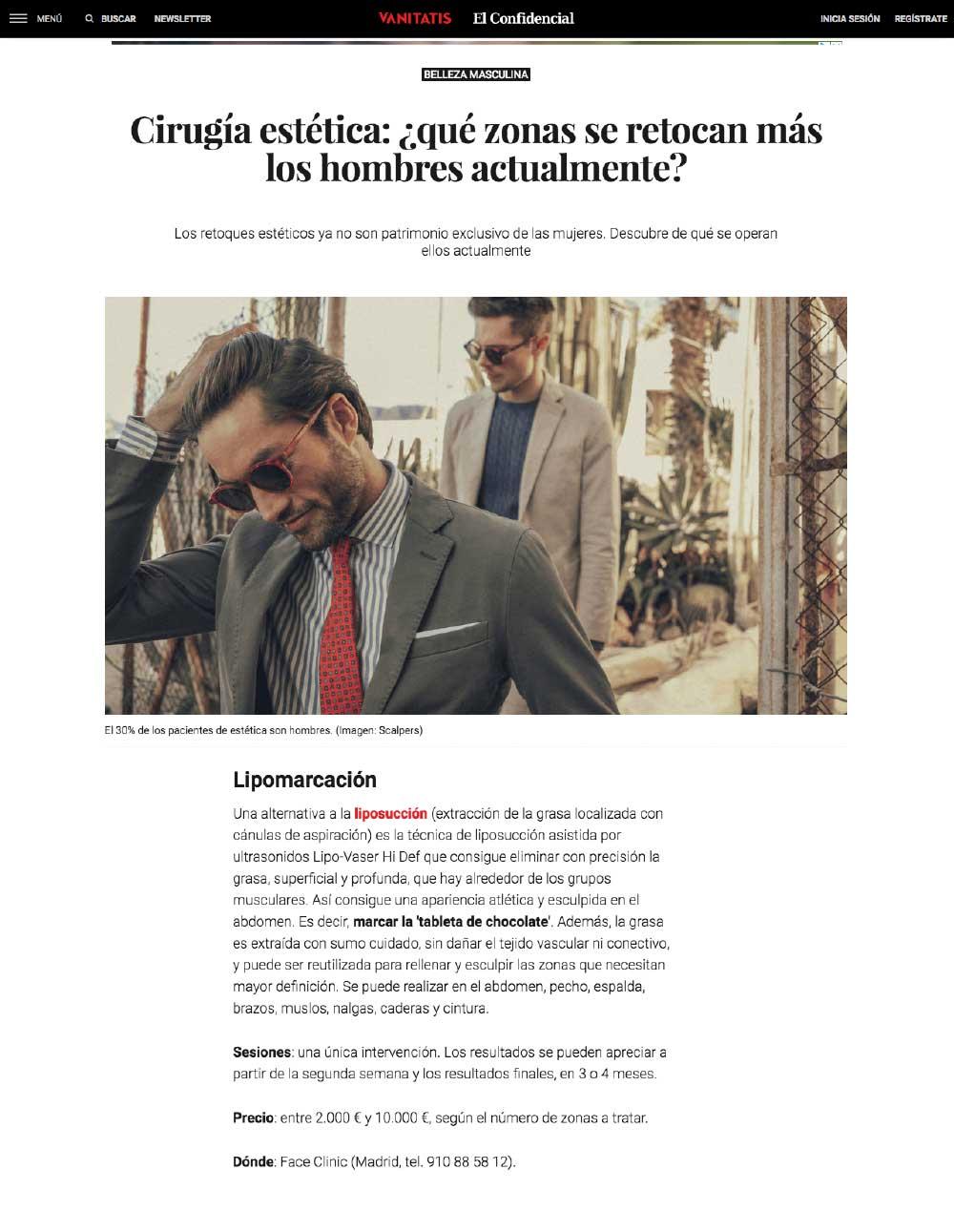 confidencial vanitatis julio 2018